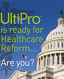 Caduceus over the U.S. Capitol Building - UltiPro is ready for Healthcare Reform... Are you? - HCM Whitepaper