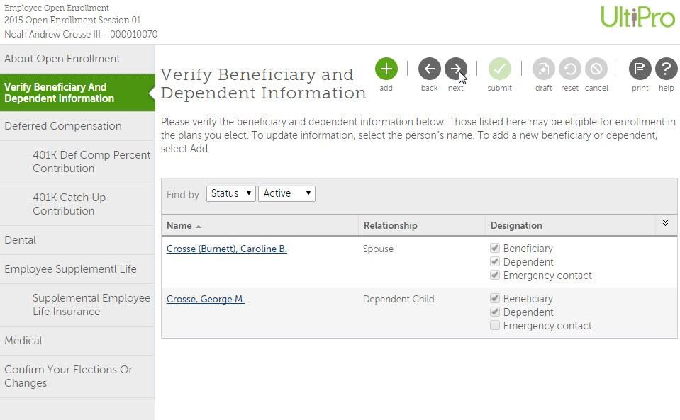 Permita que sus empleados realicen sus propias actualizaciones de RR. HH. para beneficios e información personal, en línea.